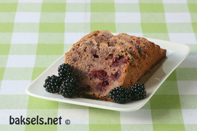 Blackberry tea bread