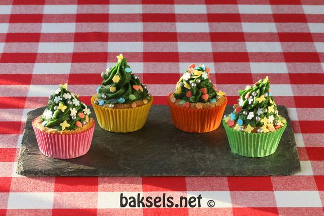Kerstboom cupcakes kinderen