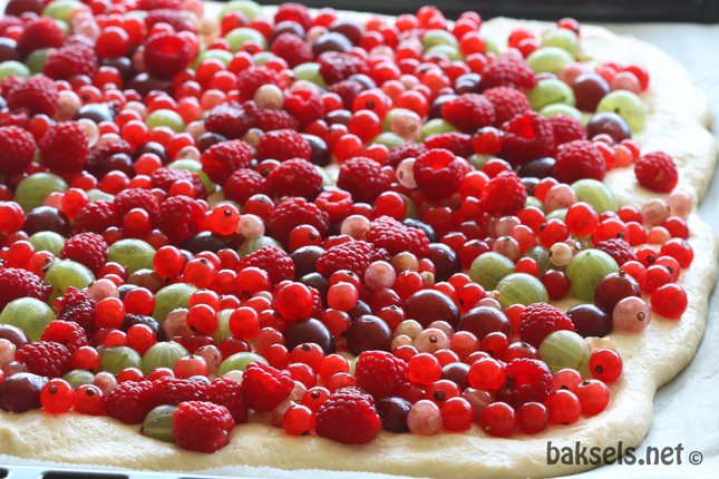 fruitfocaccia ongebakken