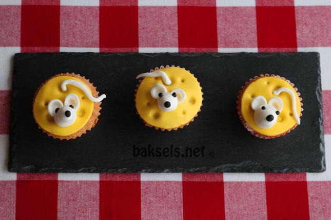 Cupcakes met een muisje