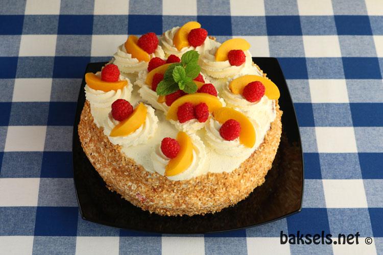 Pêche Melba taart