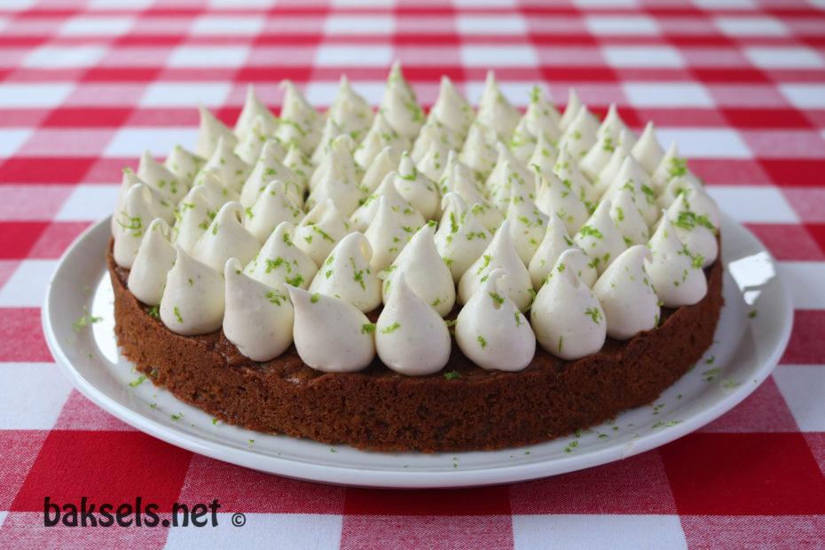 carrotcake met limoen-roomkaasglazuur