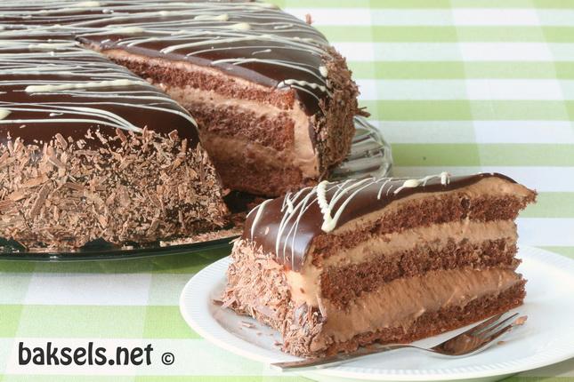 Chocoladetaart met laagjes