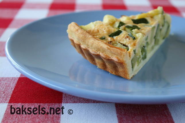 Quiche met courgette en roquefort