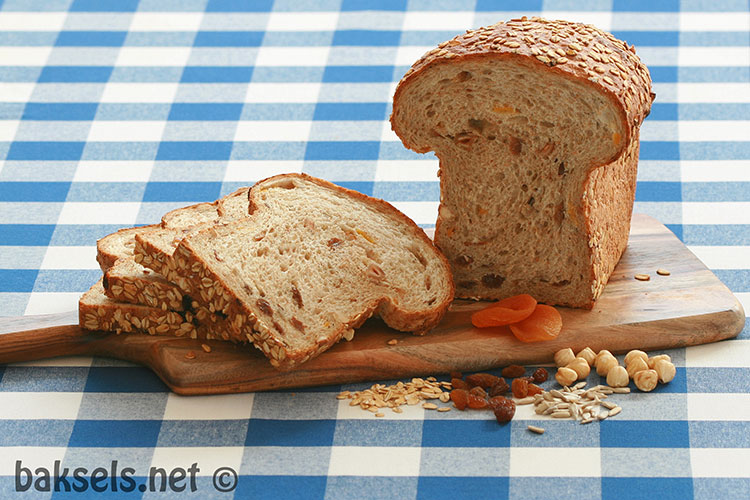 gevuld rond brood
